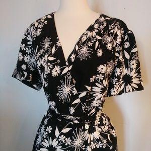 Vintage style 40s plus size repro dress